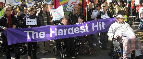 Photo of Hardest Hit Campaigners at an event in Bristol, October 2011
