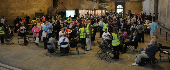 Photo of the Hardest Hit Lobby in Westminster Hall, May 2011